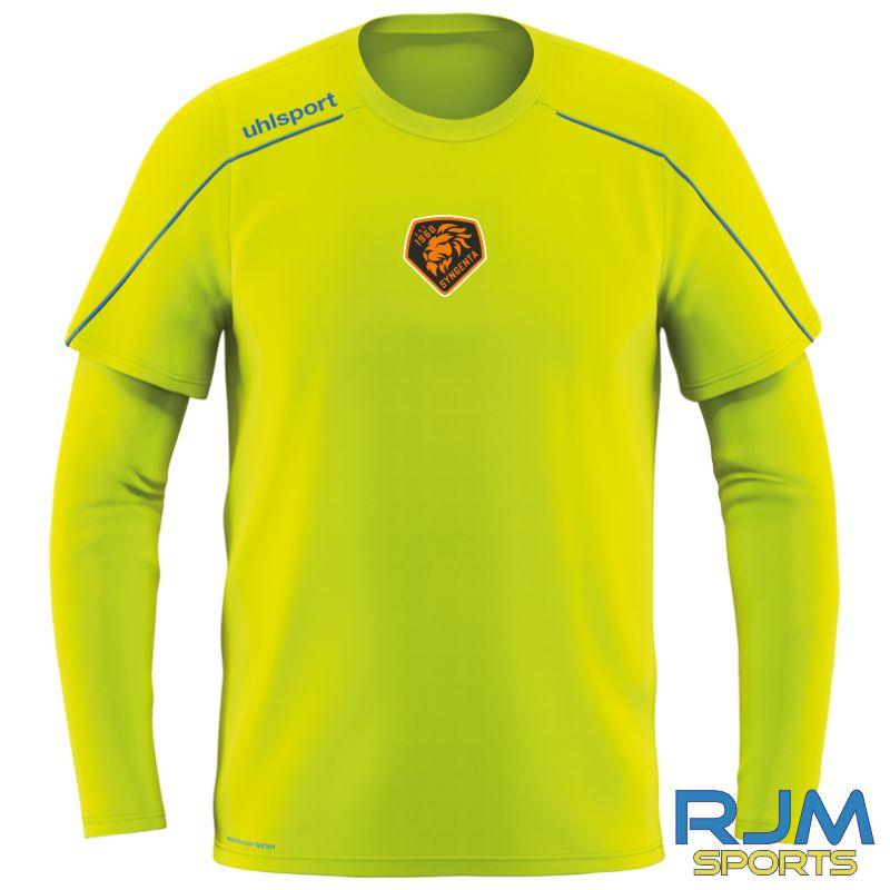 SJFC Uhlsport Stream 22 Long Sleeve GK Training Shirt Fluo Yellow/Blue