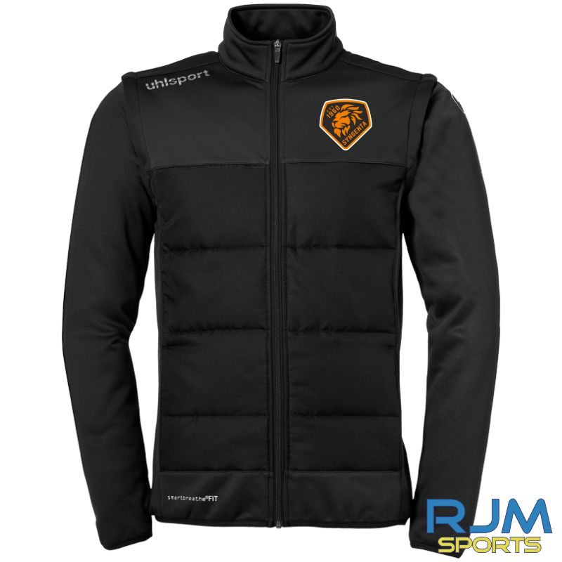 SJFC Uhlsport Essential Multi Jacket with Removeable Sleeves Black