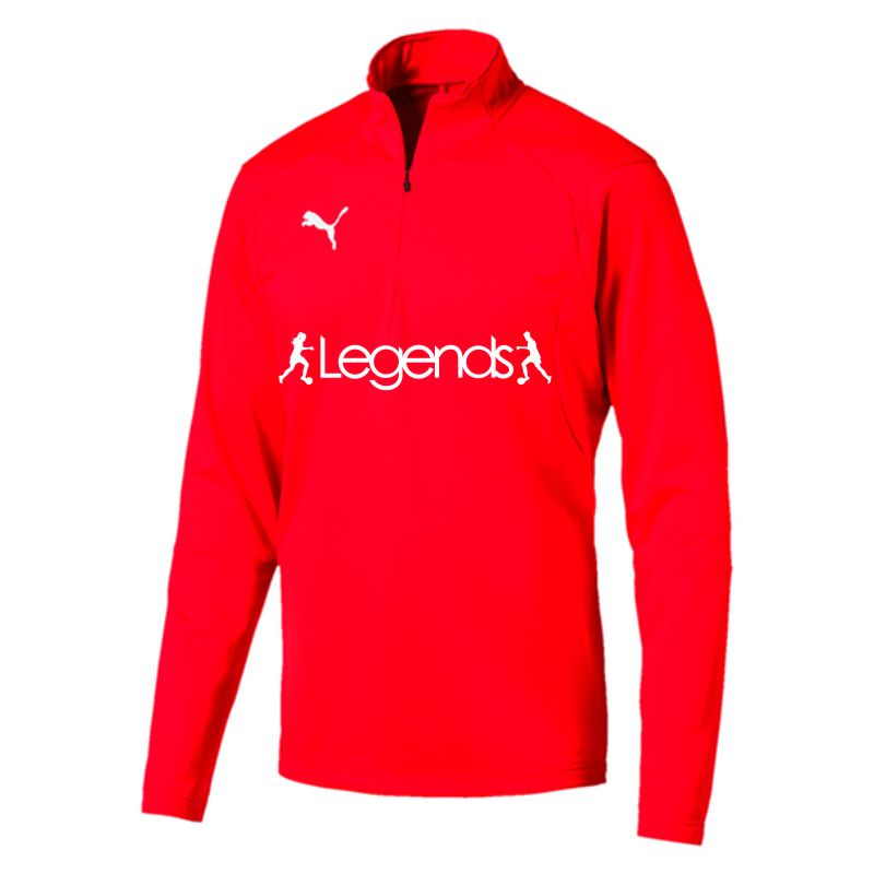 Legends Puma Liga Training Quarter Zip Top Red
