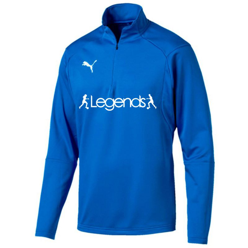 Legends Puma Liga Training Quarter Zip Top Electric Blue