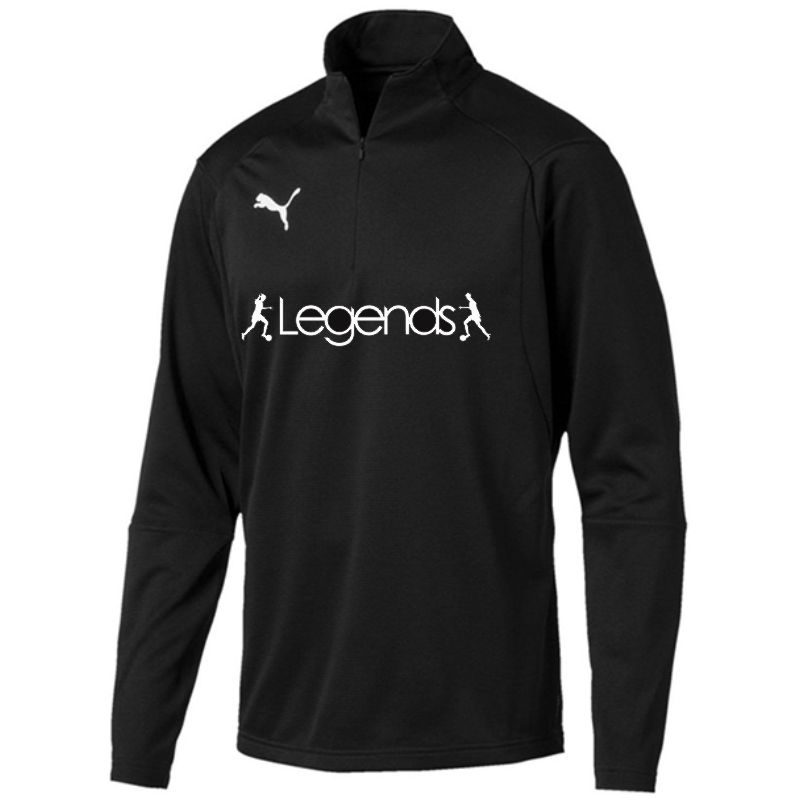 Legends Puma Liga Training Quarter Zip Top Black