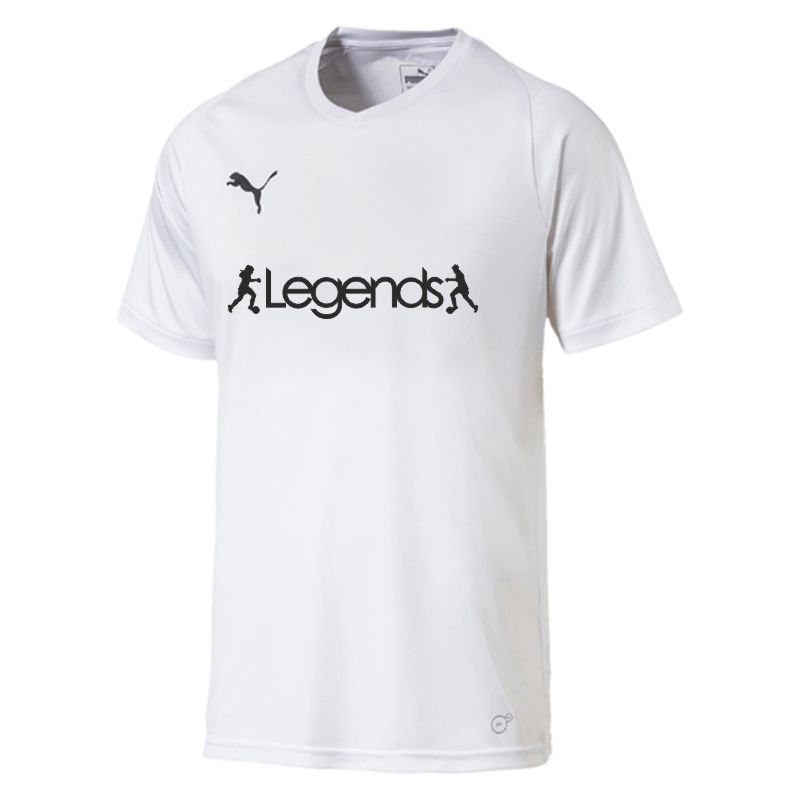 Legends Puma Liga Core Short Sleeve Shirt White