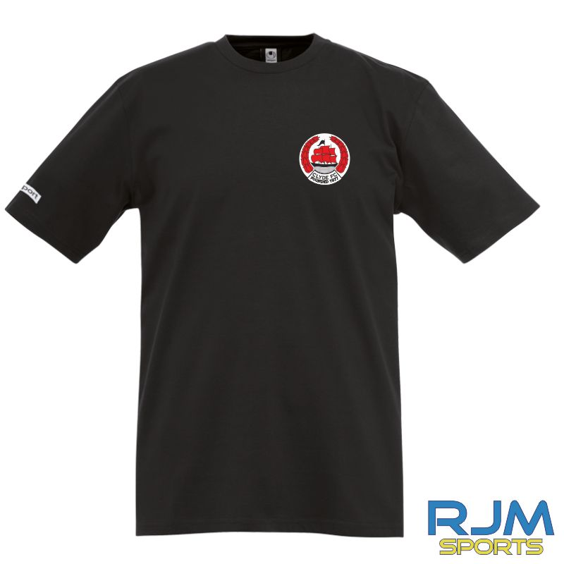 Clyde FC Uhlsport Teamsport T-Shirt Black