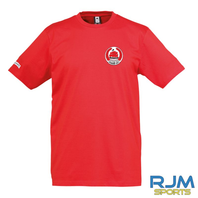Clyde FC Uhlsport Teamsport T-Shirt Red