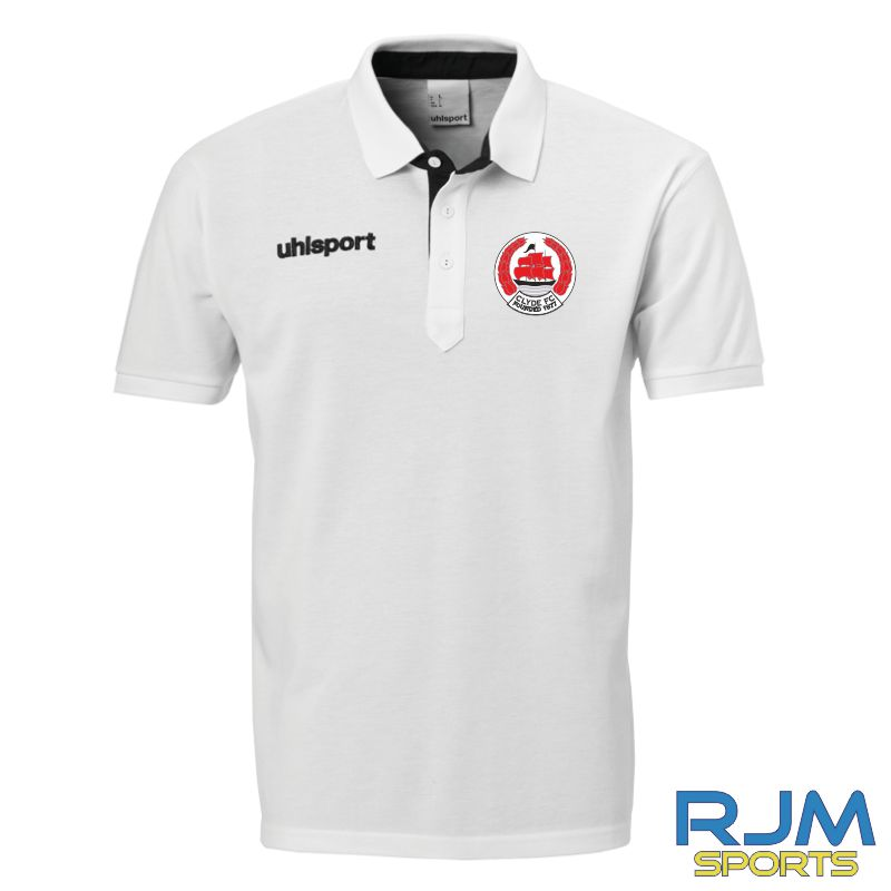 Clyde FC Uhlsport Essential Prime Polo Shirt White