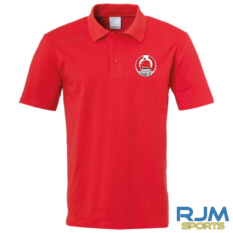 Clyde FC Uhlsport Essential Polo Shirt Red