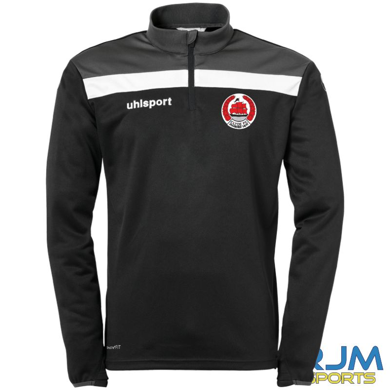 Clyde FC Uhlsport Offense 23 Quarter Zip Top Black/Anthra/White