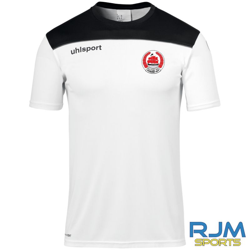 Clyde FC Uhlsport Offense 23 Poly T-Shirt White/Black