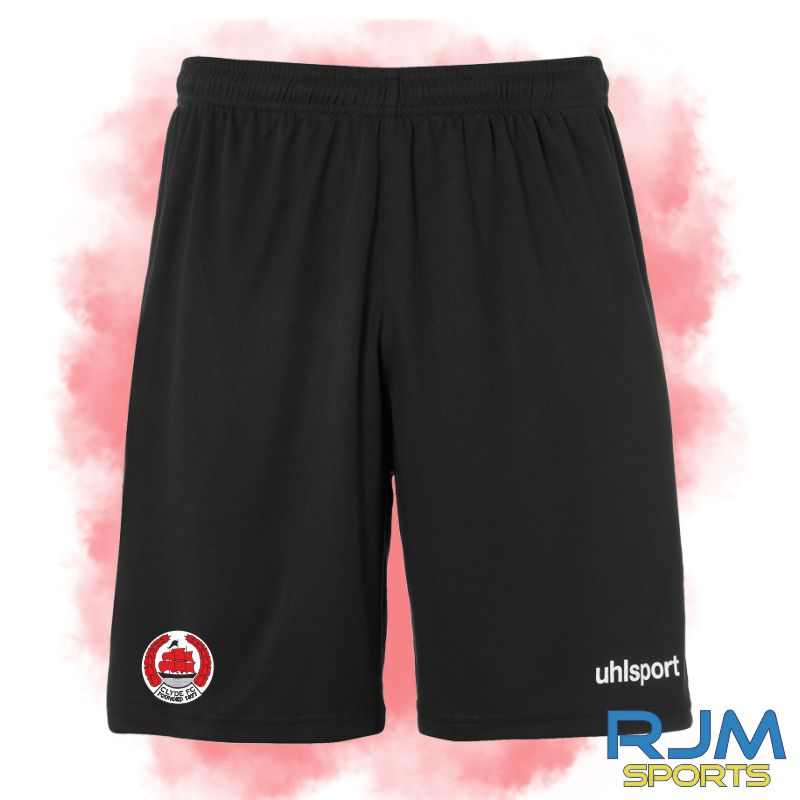 Clyde FC Uhlsport Home Centre Basic Short Black/White