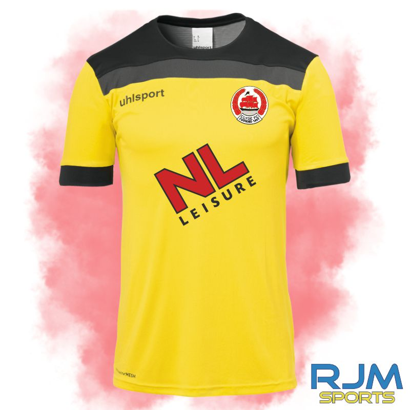 Clyde FC Uhlsport Home Offense 23 GK Shirt Lime Yellow/Black/Anthra