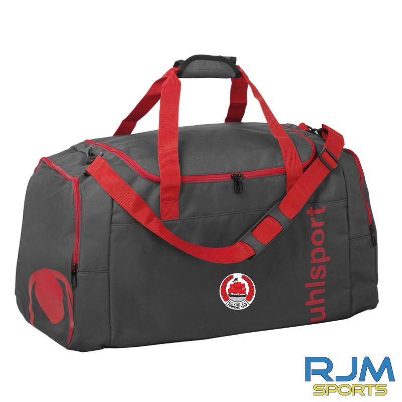 Clyde FC Uhlsport Essential 2.0 Sports Bag Anthra/Red Various Sizes