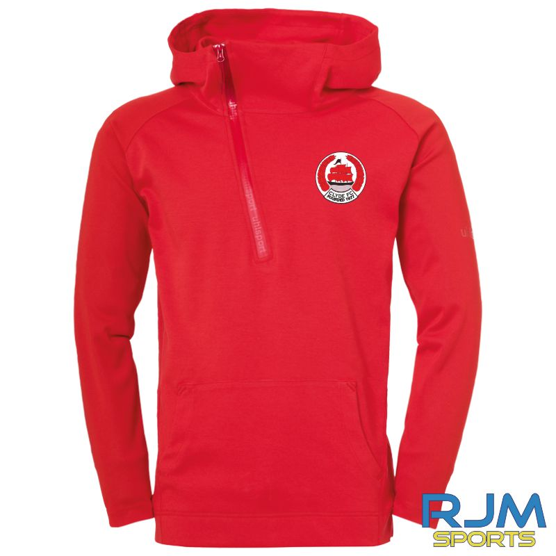 Clyde FC Uhlsport Essential Pro Zip Hoodie Red
