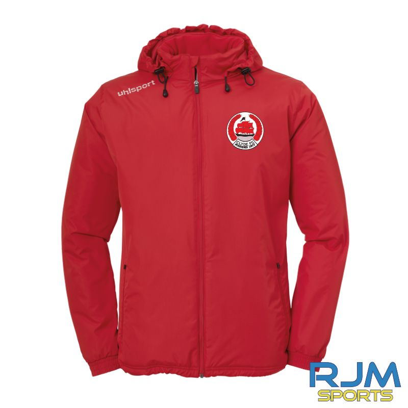 Clyde FC Uhlsport Essential Coach Jacket Red