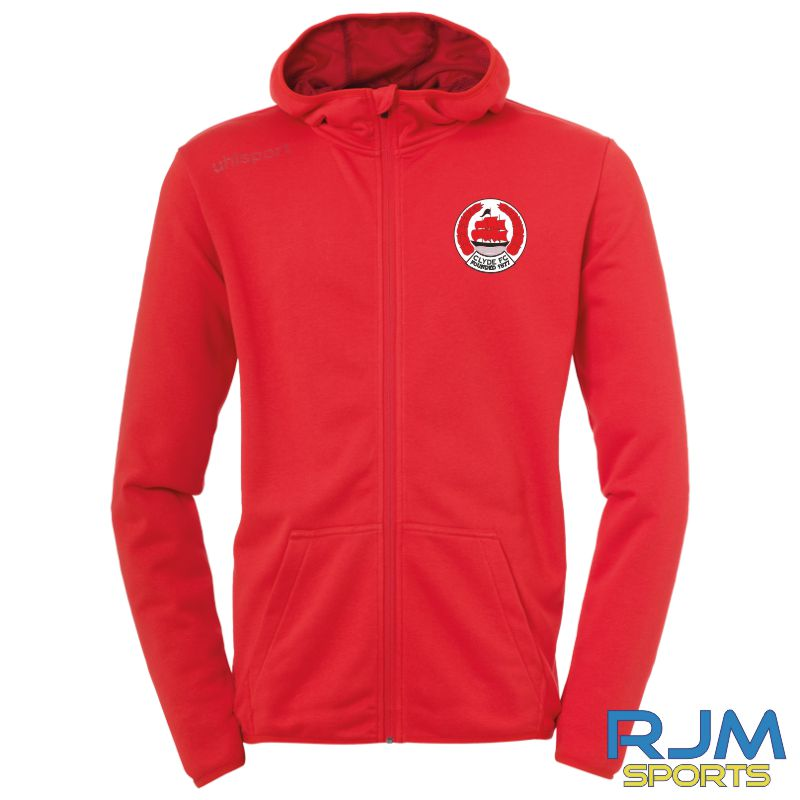 Clyde FC Uhlsport Essential Hood Jacket Red