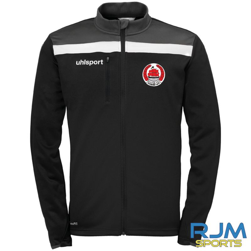 Clyde FC Uhlsport Offense 23 Poly Jacket Black/Anthra/White