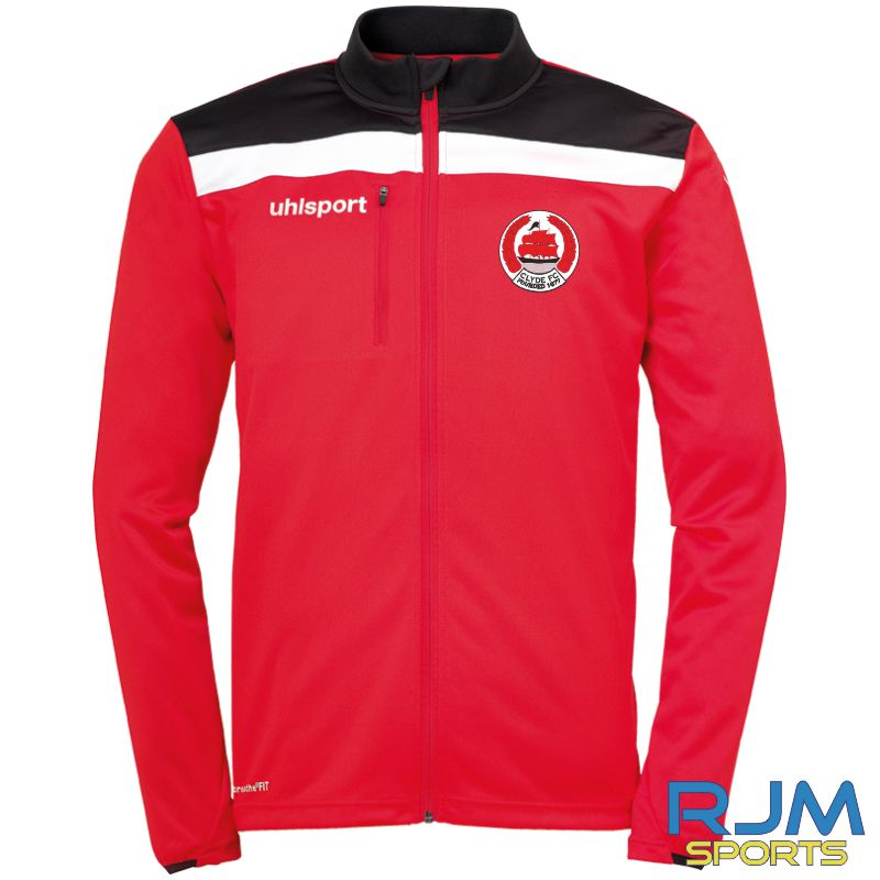 Clyde FC Uhlsport Offense 23 Poly Jacket Red/Black/White