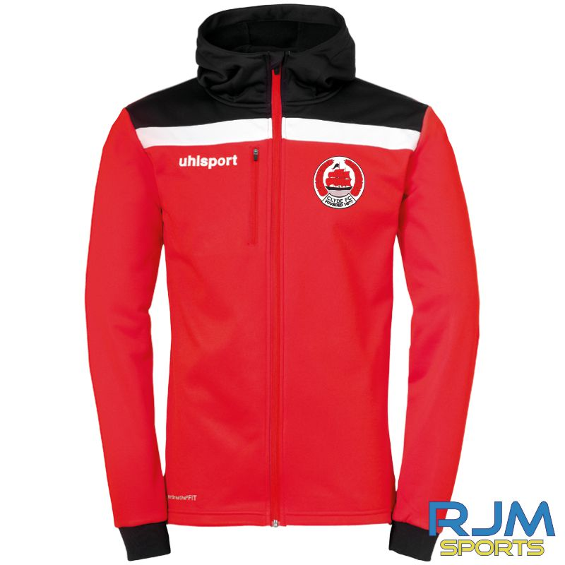 Clyde FC Uhlsport Offense 23 Multi Hood Jacket Red/Black/White