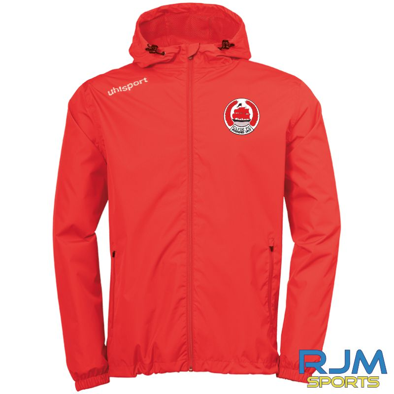 Clyde FC Uhlsport Essential Rain Jacket Red