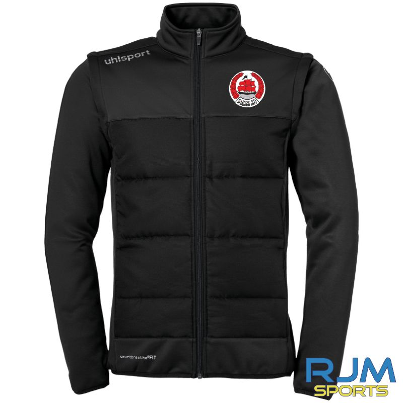 Clyde FC Uhlsport Essential Multi Jacket with Removable Sleeves Black
