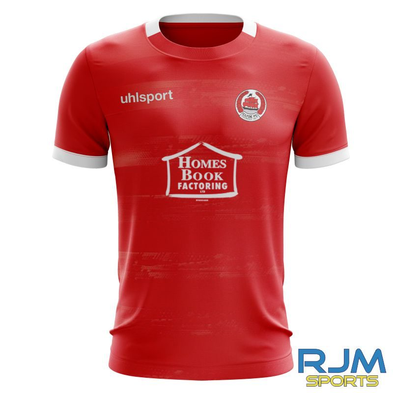 Clyde FC Uhlsport Away Division 2.0 Shirt Red/White