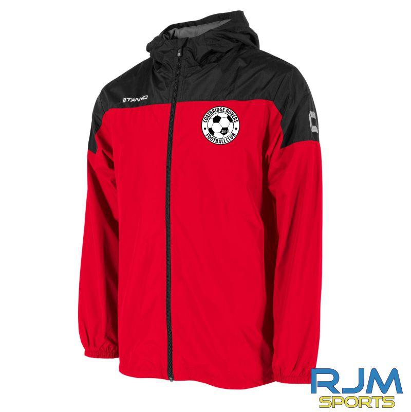 Coatbridge Rovers FC Stanno Pride Windbreaker Red Black