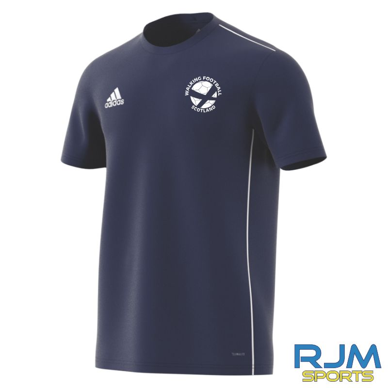 Walking Football Scotland Adidas Core 18 Training Jersey Dark Blue/White