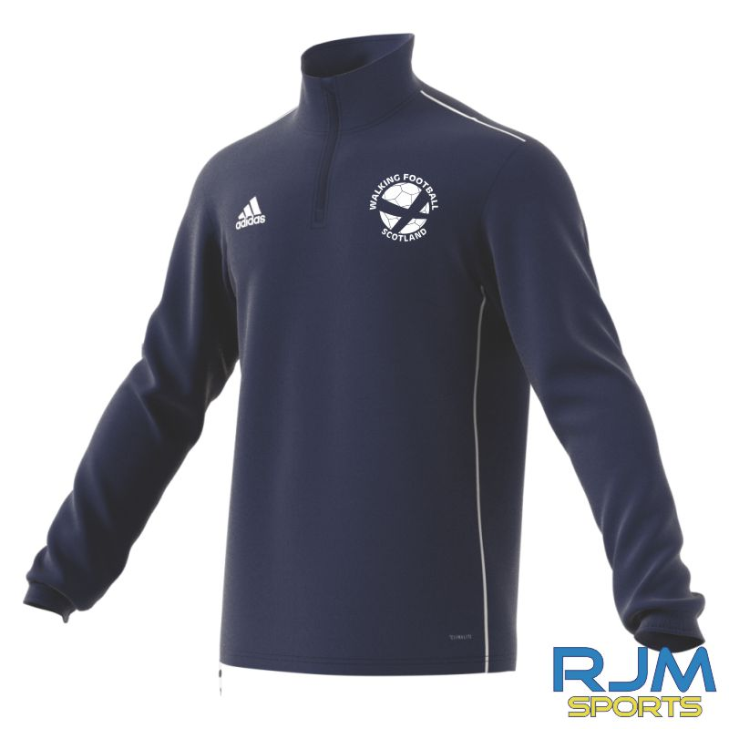 Walking Football Scotland Adidas Core 18 Training Top Dark Blue/White