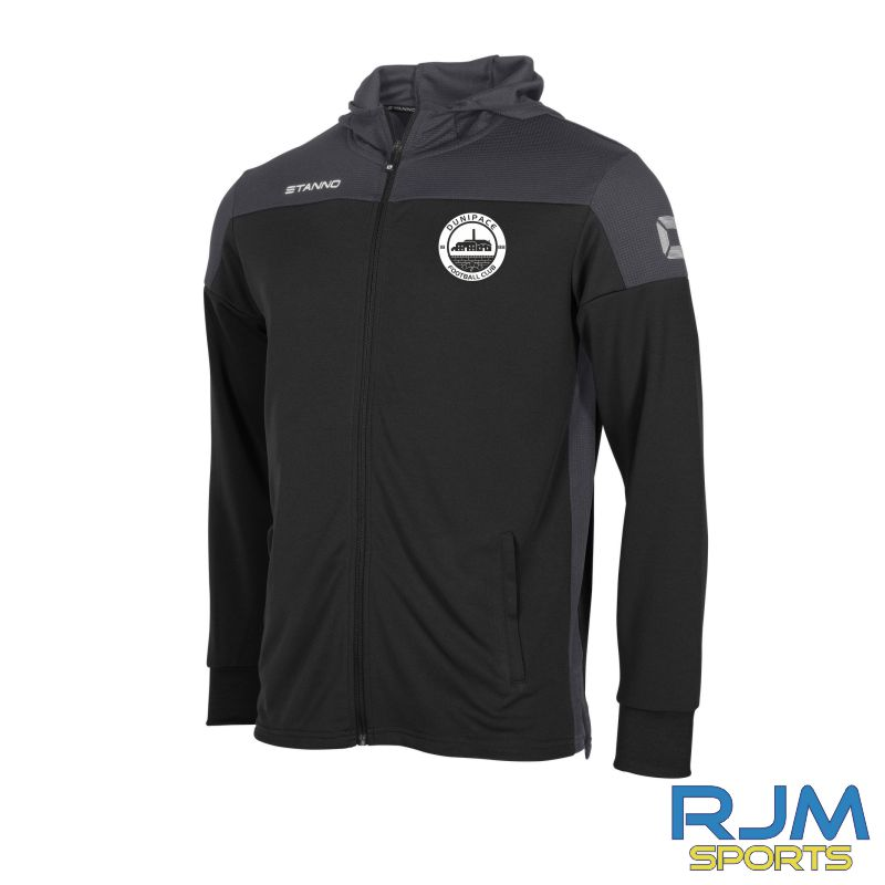 Dunipace FC Stanno Pride Hooded Jacket Black/Anthracite