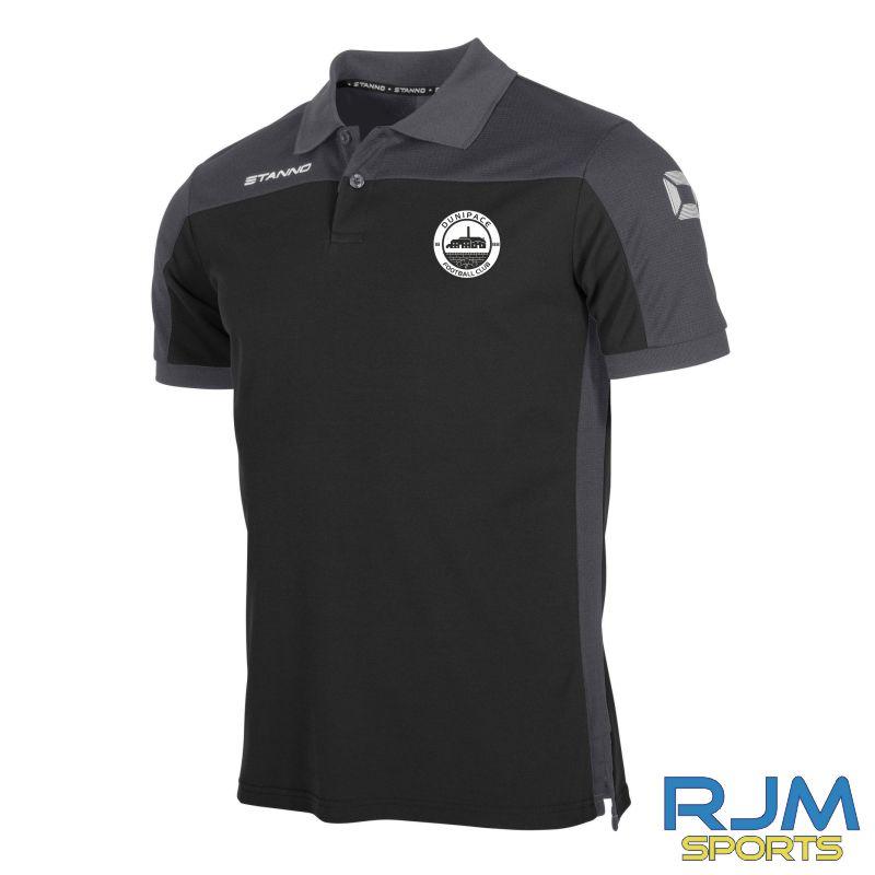 Dunipace FC Stanno Pride Polo Shirt Black/Anthracite