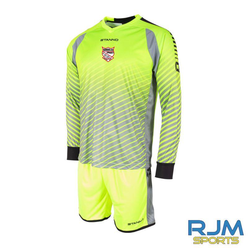 Garnkirk Community FC Stanno Blitz Goalkeeper Set Neon Yellow