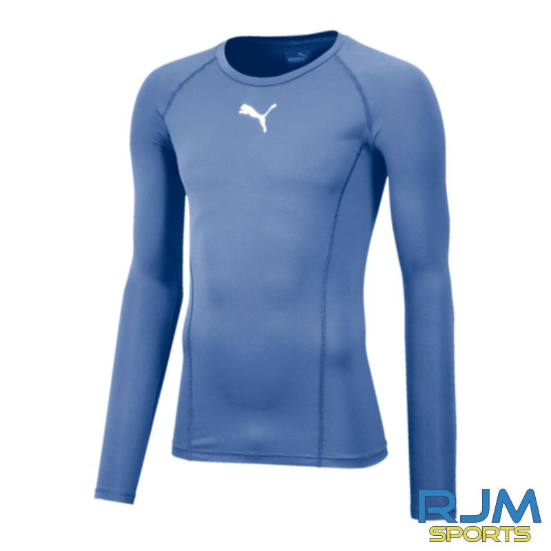 Riverside FC Puma Liga Base Layer Long Sleeve Tee Silver Lake Blue