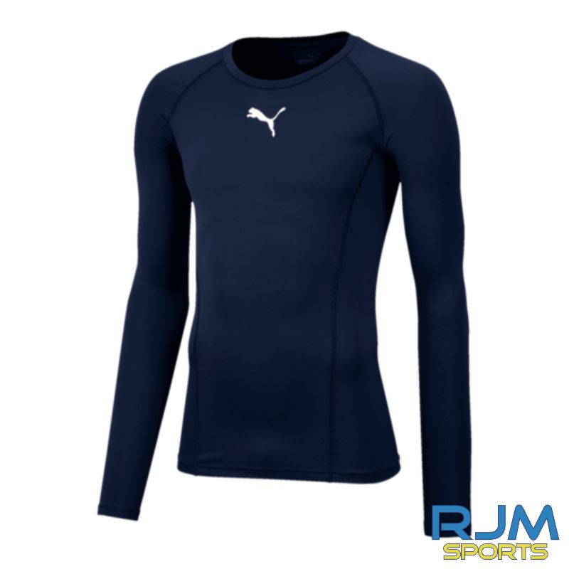 Riverside FC Puma Liga Base Layer Long Sleeve Tee Peacoat