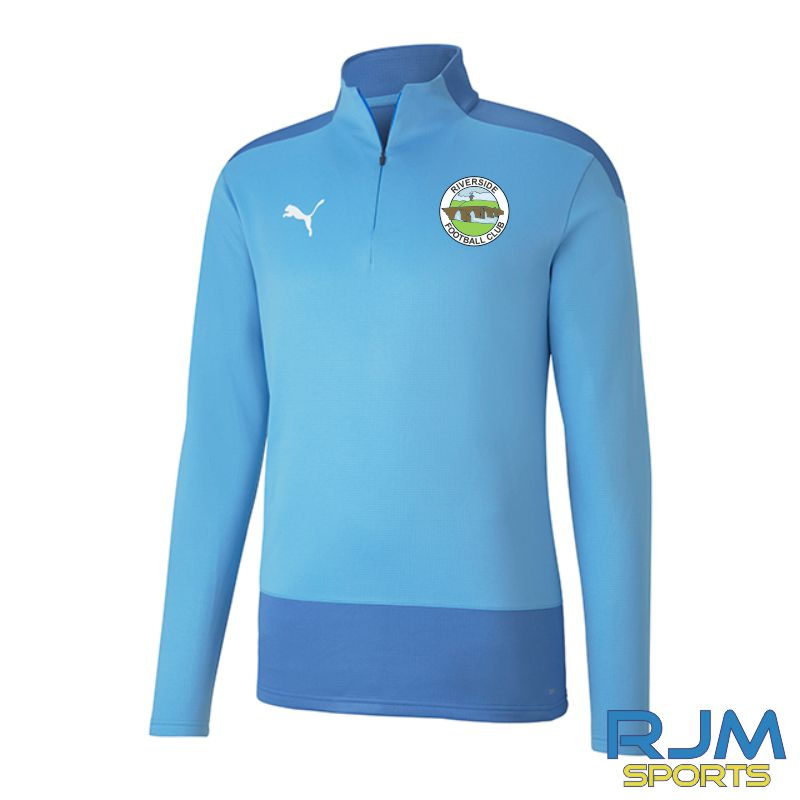 Riverside FC Players Puma Goal Training Quarter Zip Team Light Blue