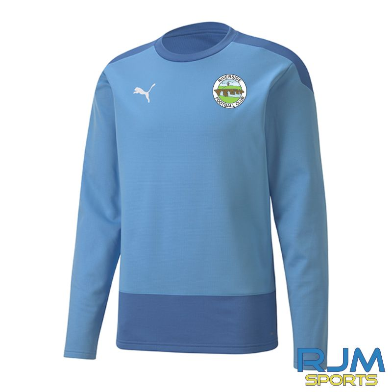 Riverside FC Players Puma Goal Sweat Training Top Team Light Blue