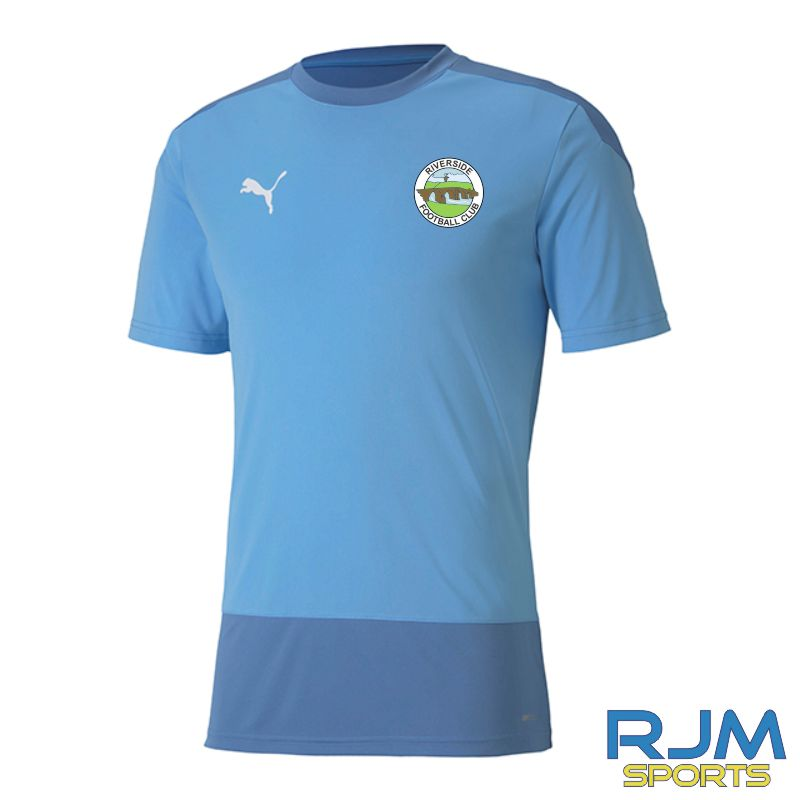 Riverside FC Coaches Puma Goal Training Short Sleeve Jersey Team Light Blue