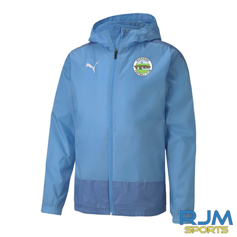 Riverside FC Players Puma Goal Training Rain Jacket Team Light Blue