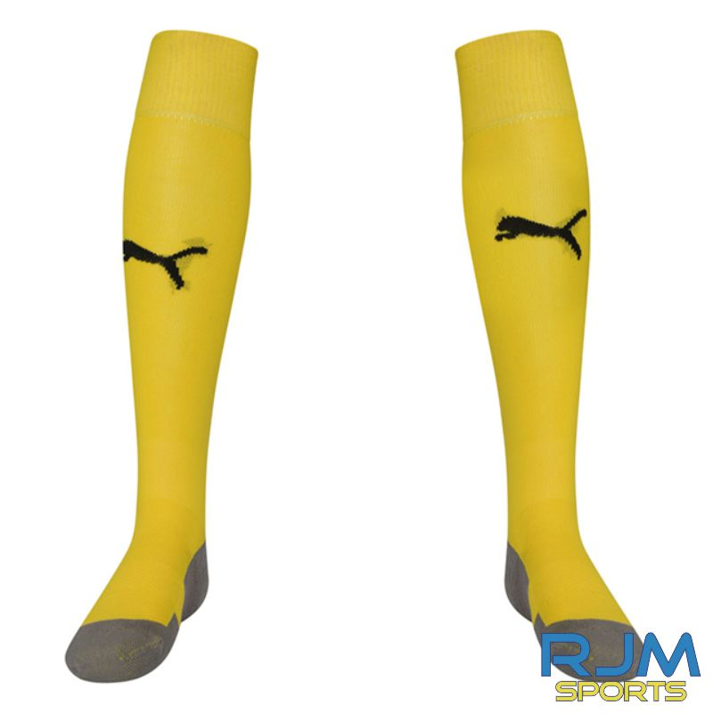 Riverside FC Puma Liga Core Socks Cyber Yellow/Black
