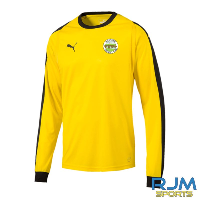 Riverside FC Puma Liga GK Long Sleeve Jersey Cyber Yellow/Black