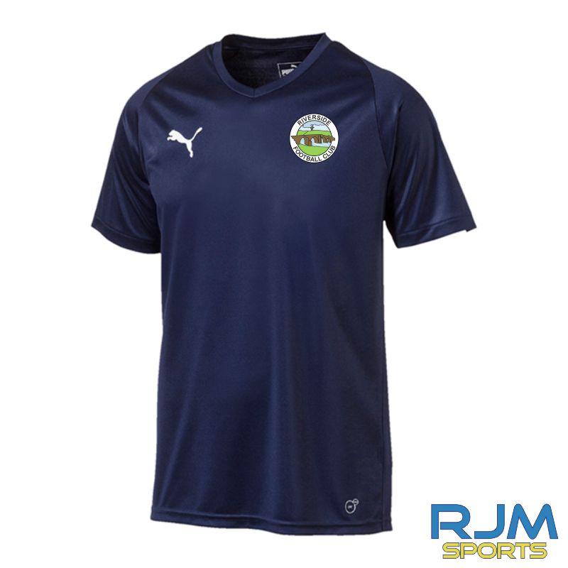 Riverside FC Puma Liga Core Short Sleeve Jersey Peacoat