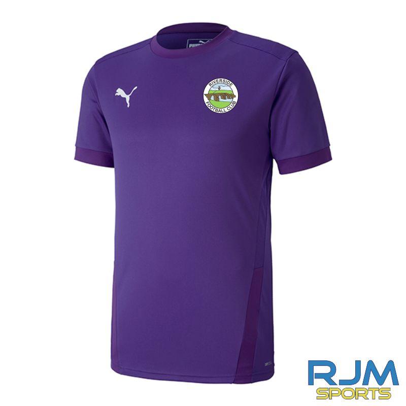 Riverside FC Puma Goal Short Sleeve Away Jersey Prism Violet