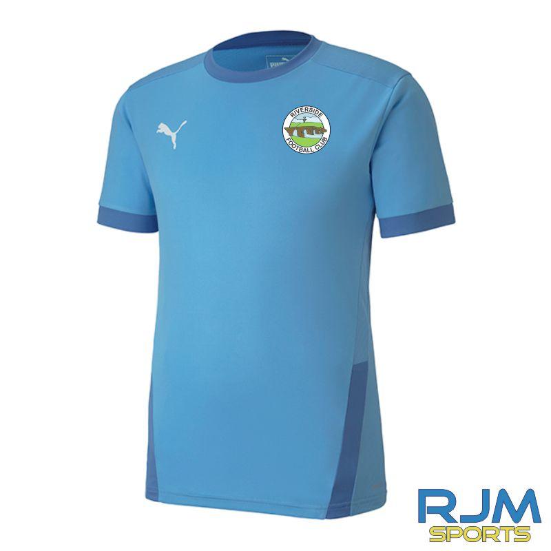 Riverside FC Puma Goal Short Sleeve Home Jersey Team Light Blue