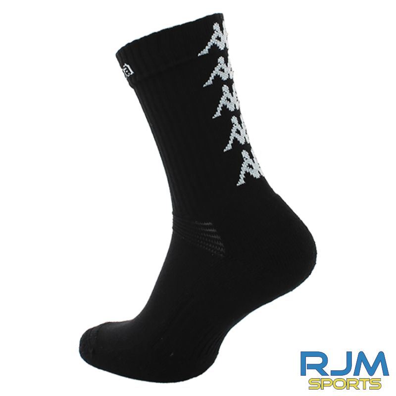 Glasgow Rocks Kappa Eleno Socks (Pack of 3) Black/White