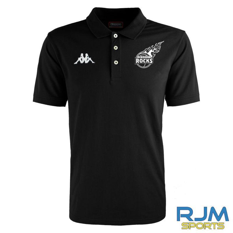 Glasgow Rocks Kappa Peglio Polo Shirt Black