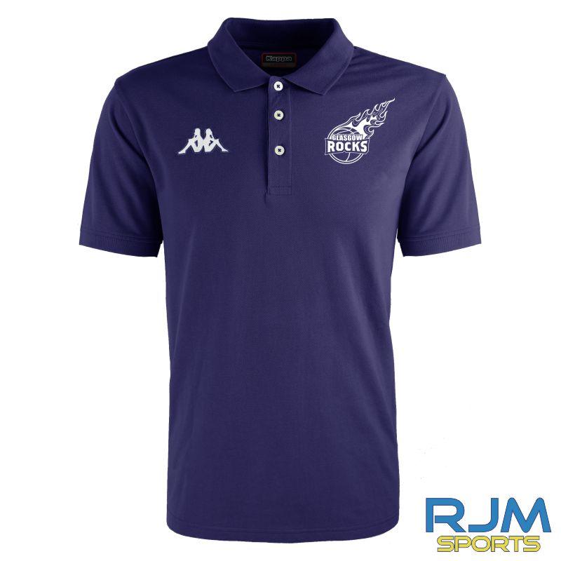 Glasgow Rocks Kappa Peglio Polo Shirt Marine