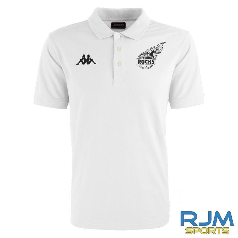 Glasgow Rocks Kappa Peglio Polo Shirt White
