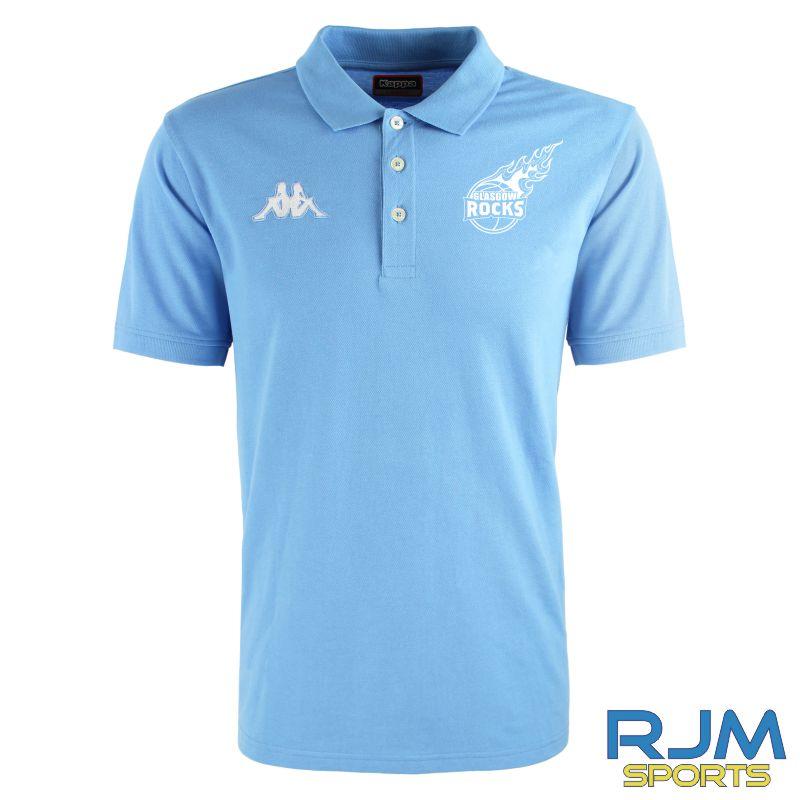 Glasgow Rocks Kappa Peglio Polo Shirt Light Blue