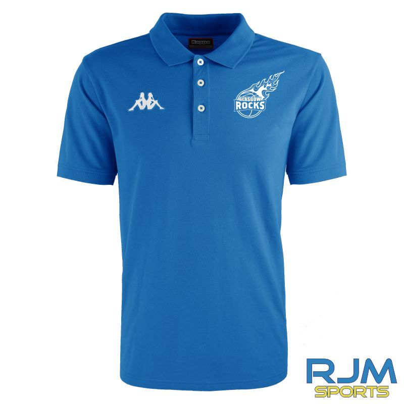 Glasgow Rocks Kappa Peglio Polo Shirt Blue Nautic