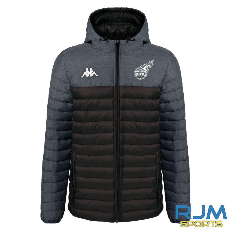 Glasgow Rocks Kappa Lamezio Padded Jacket Black/Grey
