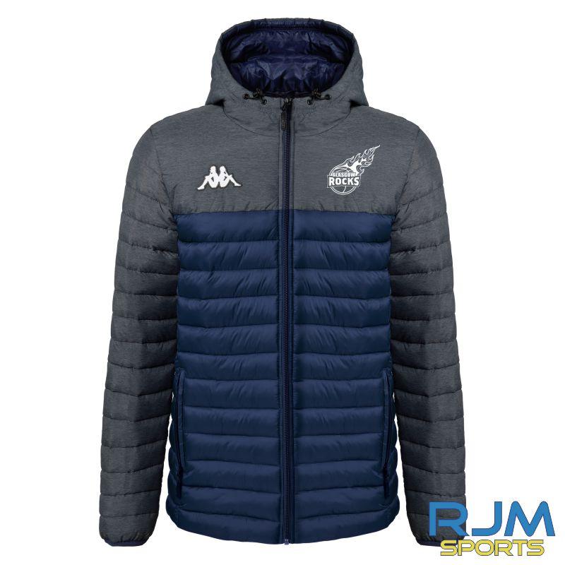 Glasgow Rocks Kappa Lamezio Padded Jacket Marine/Grey