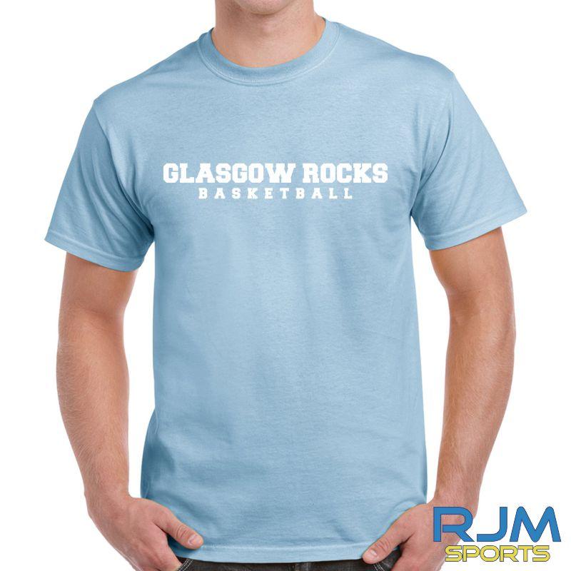 Glasgow Rocks Gildan Glasgow Rocks Basketball T-Shirt Light Blue